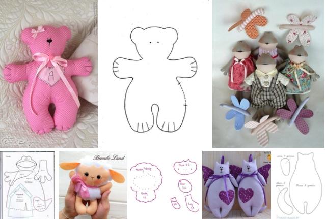 4 moldes de animales de tela faciles de hacer