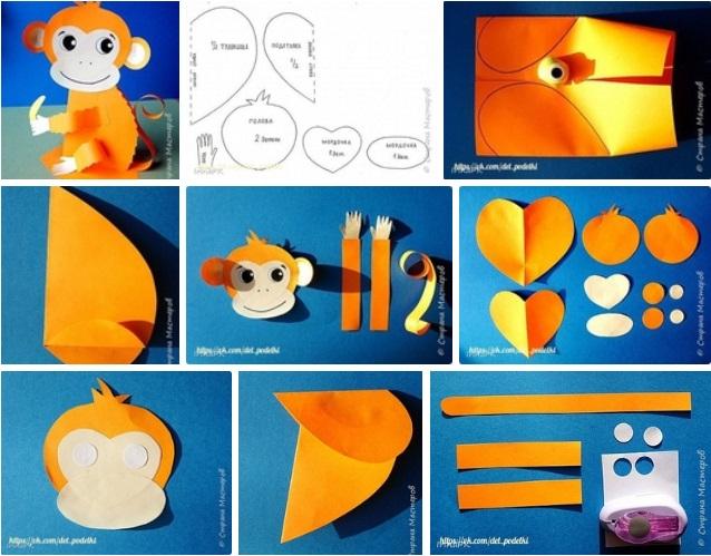 moldes para hacer un mono de papel