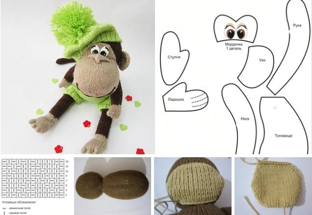 moldes para tejer un monito en crochet