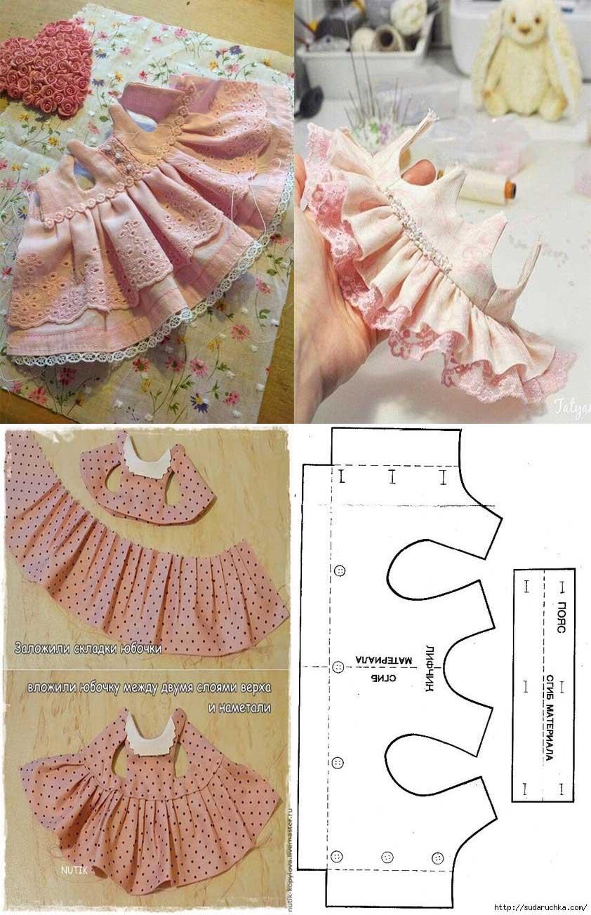 patron para hacer un vestido para muñecas