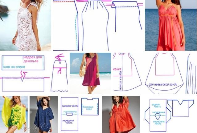patrones de vestidos para la playa sensillos