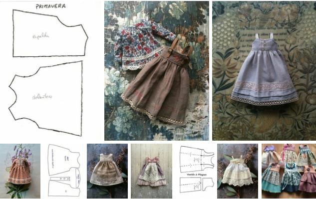 patrones vestido de muñeca hecho a mano