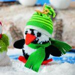 como hacer un pinguino con pompones