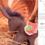 burro para pesebre navideño patrones