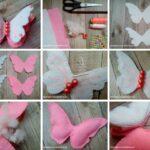 como hacer una mariposa decorativa de fieltro
