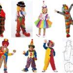 ideas y moldes disfraz de payaso para niños