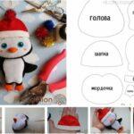 molde de pinguino de navidad