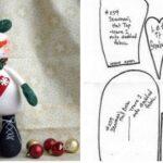 molde muñeco de nieve para imprimir