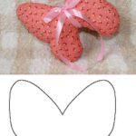 molde para hacer almohadas con forma de mariposa