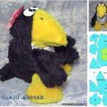 molde para hacer cuervo de peluche