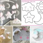 patrones para hacer nubes estrellas y una luna de tela