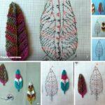 plumas tejidas a crochet patrones