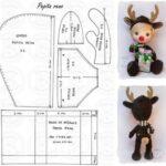 Muñeca en un disfraz de ciervo patrones