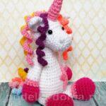 como hacer un unicornio de crochet paso a paso