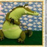 molde de cocodrilo para imprimir