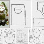 patrones para hacer un papa noel y rodolfo el reno en fieltro