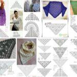 17 patrones para tejer un chal en crochet