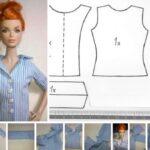 Como hacer Blusas para Barbie moldes