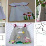 Vestidos para niñas con apliques Ideas y patrones
