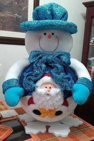 adorno navidad nieve