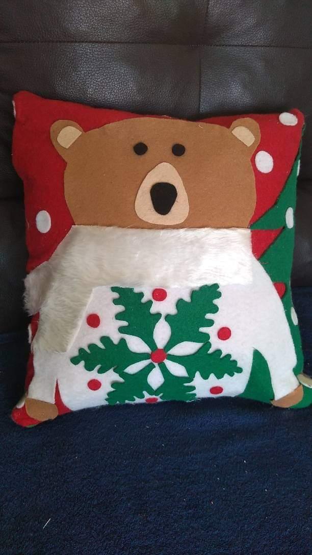 molde de cojin navideño