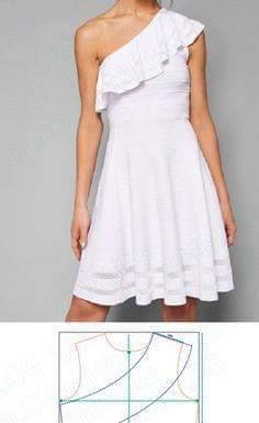 molde vestido blanco