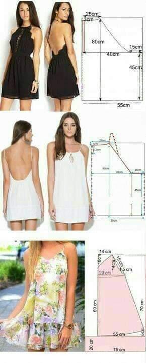 molde de vestido abierto espalda